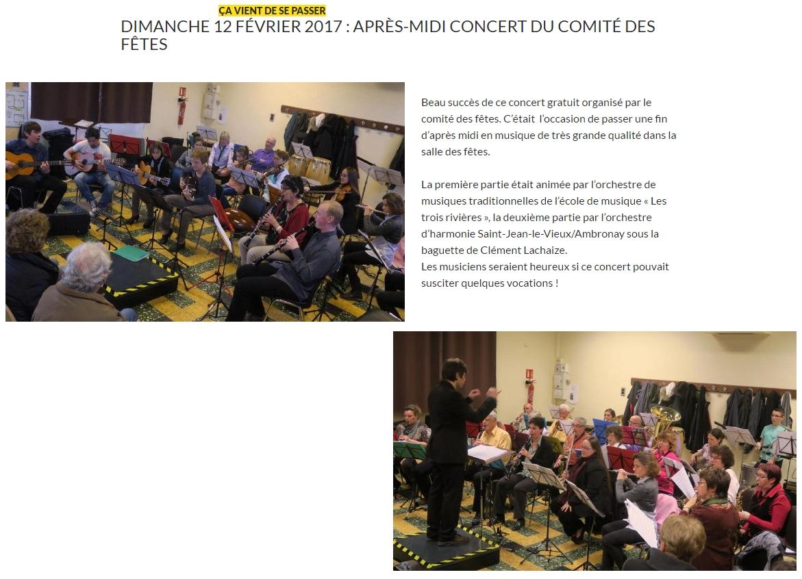 Article mairie concert Douvres 12 février 2017