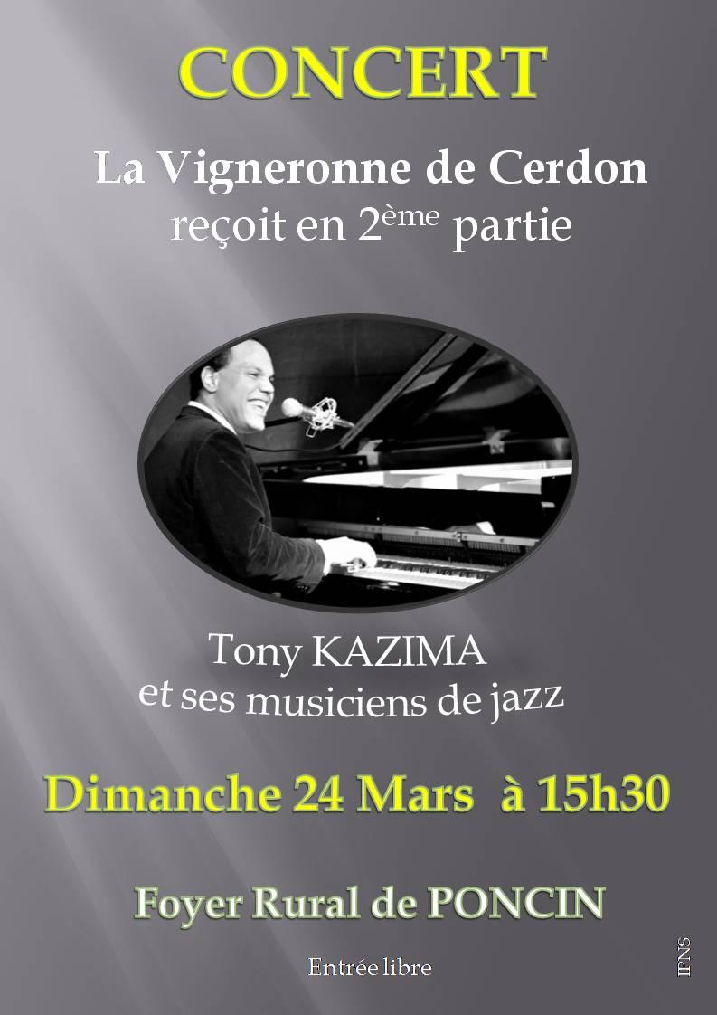 Affiche concert poncin du 24 mars 2019