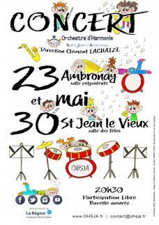 Affiche concerts ohsja 23 et 30 mai 2020 v0601202014h15