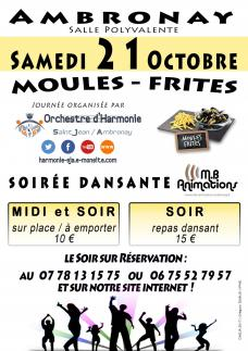 Affiche moules frites ohsja 21 octobre 2017