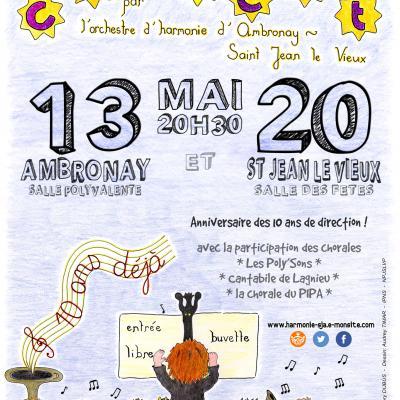 OHSJA Affiche concerts mai 2017