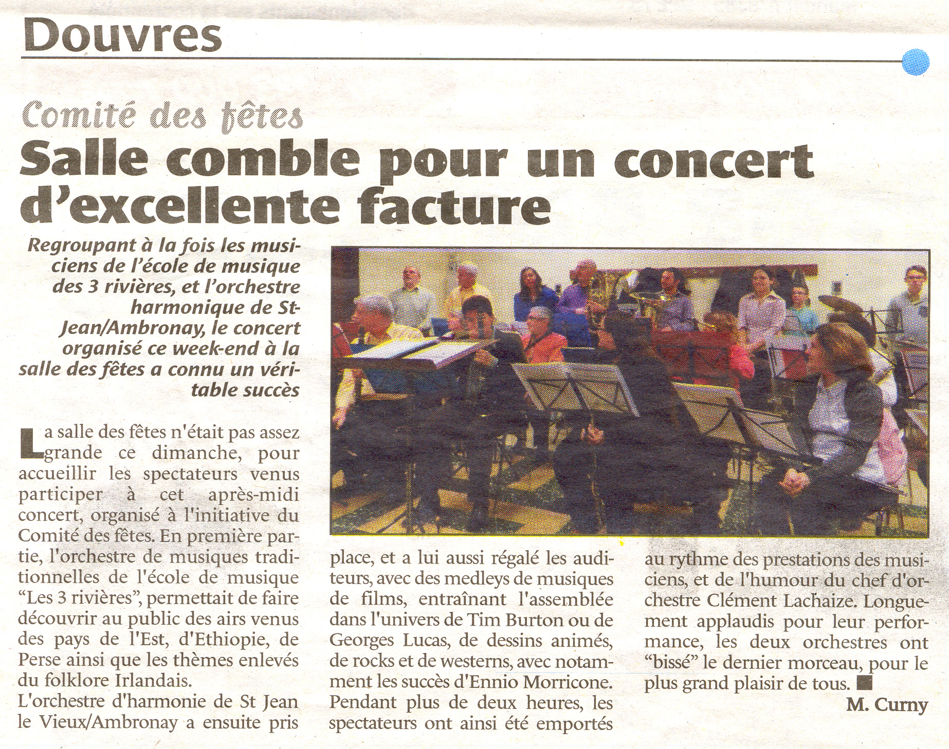 Article bugey concert douvres 12fev2017